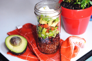 Seven Layer Salad in a Jar
